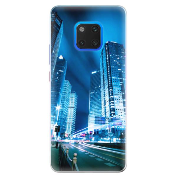 Silikonové pouzdro iSaprio - Night City Blue - Huawei Mate 20 Pro