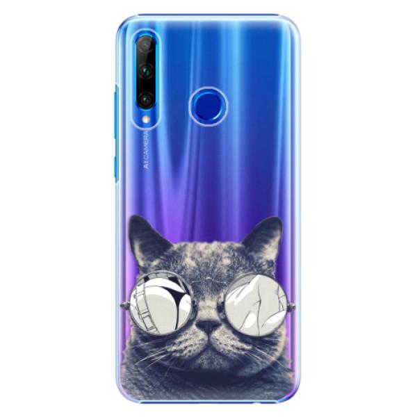 Plastové pouzdro iSaprio - Crazy Cat 01 - Huawei Honor 20 Lite