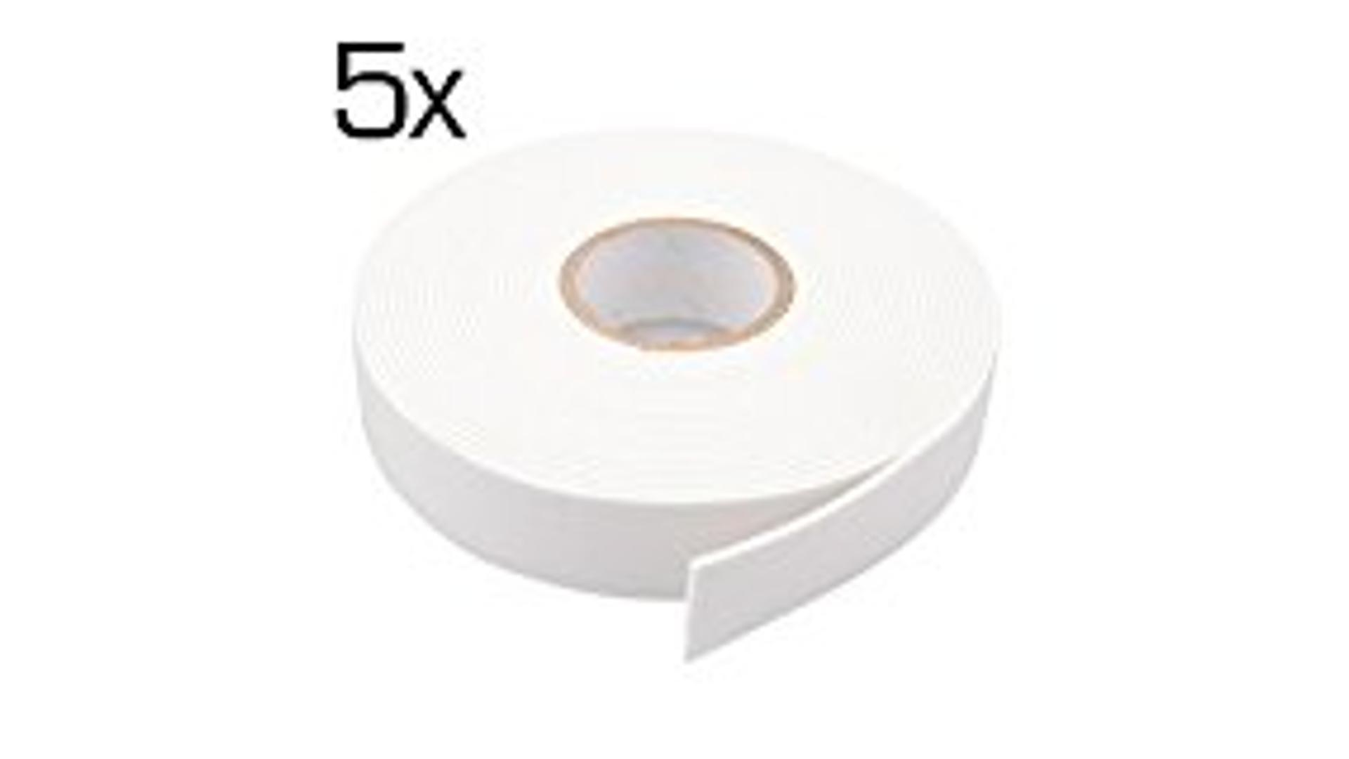 5-piece set of Double side tapes, 19mm x 5m