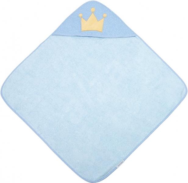 Canpol Babies Měkká osuška s kapucí, 85x85cm - King, modrá