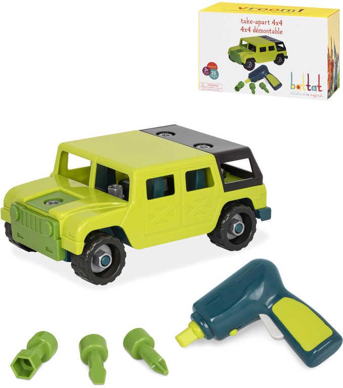 B-TOYS Šroubovací autíčko off-road set s nástrojem stavebnice plast