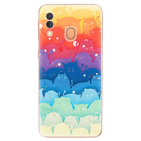 Odolné silikonové pouzdro iSaprio - Cats World - Samsung Galaxy A40