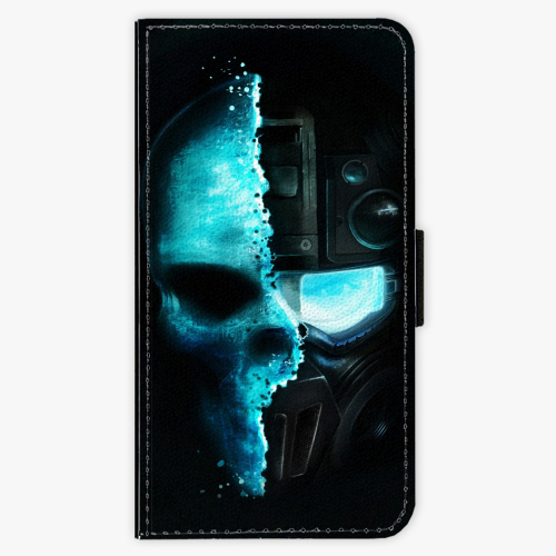 Flipové pouzdro iSaprio - Roboskull - Samsung Galaxy J7 2017