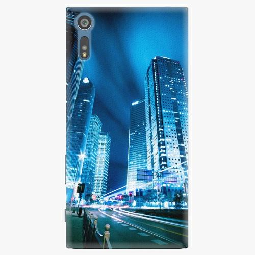 Plastový kryt iSaprio - Night City Blue - Sony Xperia XZ