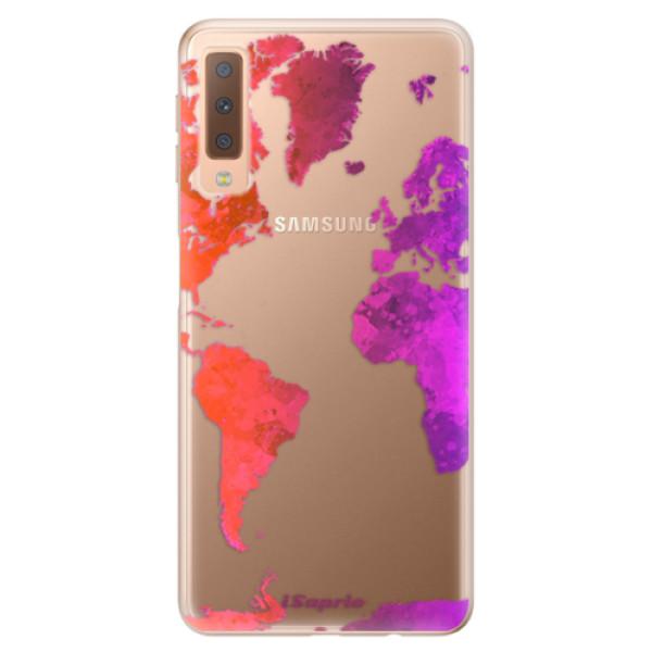 Odolné silikonové pouzdro iSaprio - Warm Map - Samsung Galaxy A7 (2018)