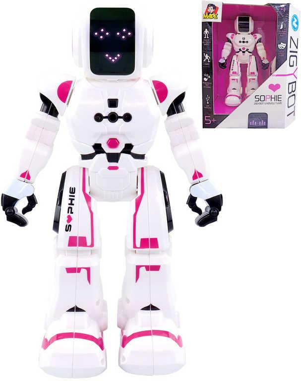Zigybot Sophie 26cm interaktivní robotická kamarádka na baterie Světlo Zvuk