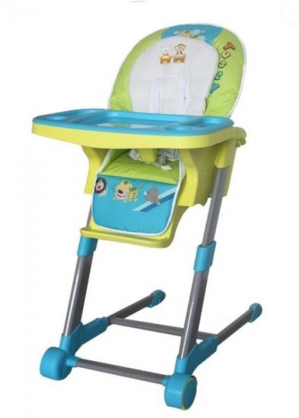 Dětská multifunkční jídelní židle Euro Baby - modrá, zelená
