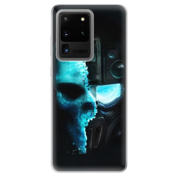 Odolné silikonové pouzdro iSaprio - Roboskull - Samsung Galaxy S20 Ultra