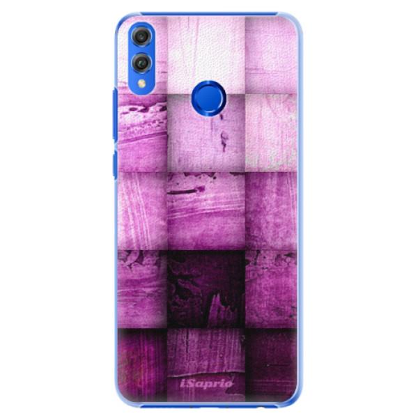 Plastové pouzdro iSaprio - Purple Squares - Huawei Honor 8X