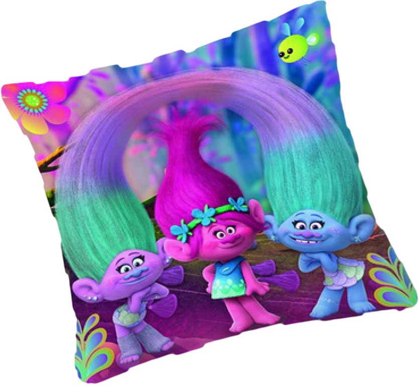 Polštářek dětský textilní Trolls 33x33cm (Trollové)