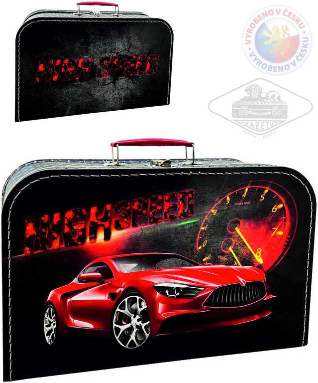KAZETO Kufr Auto velký kufřík lepenkový pro kluky
