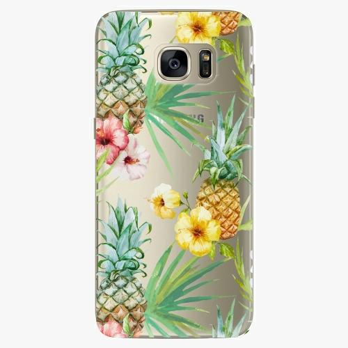Plastový kryt iSaprio - Pineapple Pattern 02 - Samsung Galaxy S7