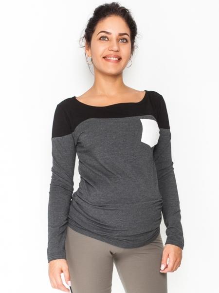 Těhotenské triko/halenka dlouhý rukáv