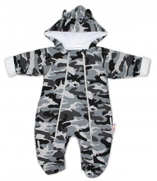 baby-nellys-kombinezka-s-dvojitym-zapinanim-s-kapuci-a-ousky-maskac-sedy-vel-62-62-2-3m