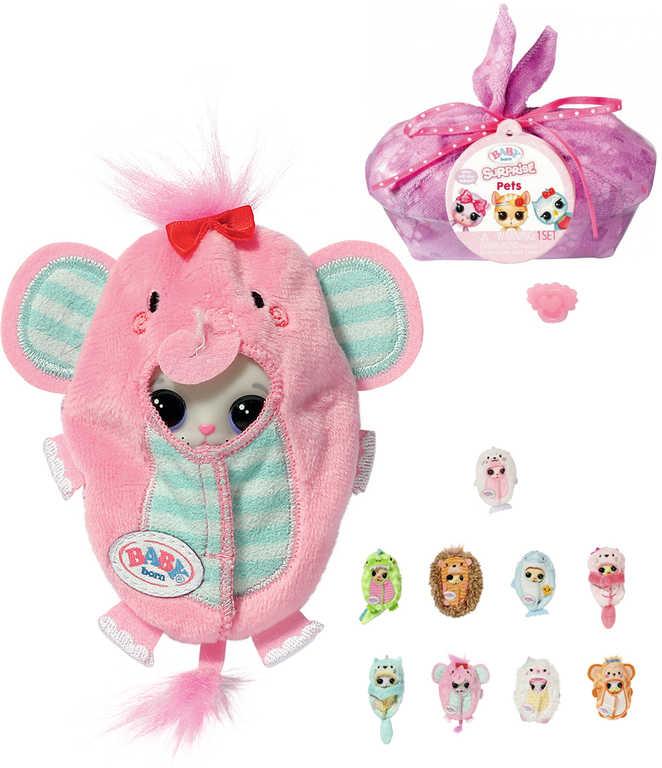 ZAPF CREATION BABY BORN Surprise 3 zvířátko ve fusaku plast 18 druhů