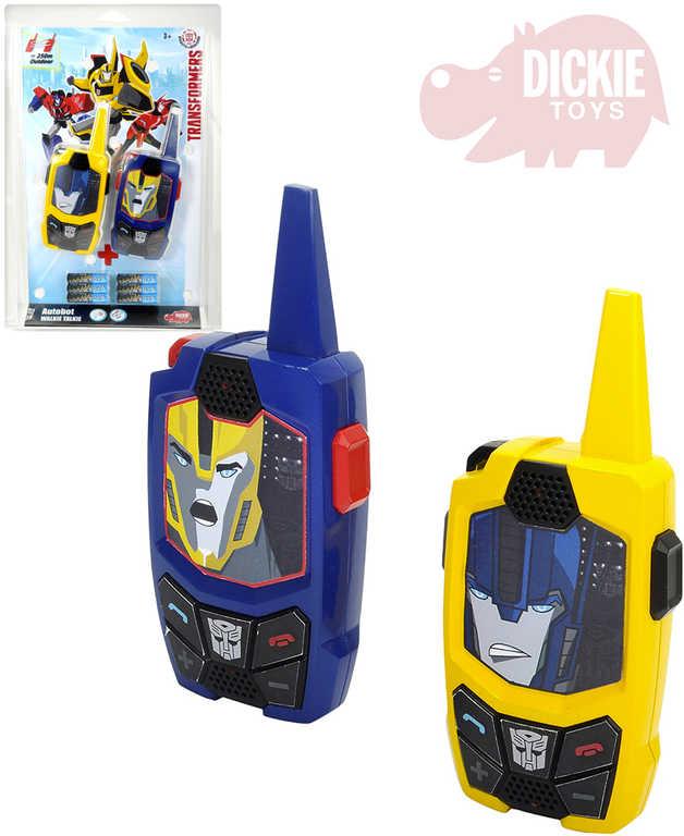 DICKIE Vysílačky dětské Transformers Walkie Talkie 15cm na baterie set 2 ks na kartě