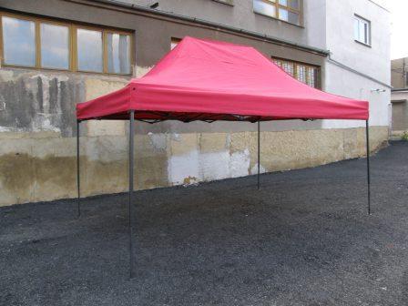 Zahradní párty stan DELUXE nůžkový - 3 x 4,5 m červená