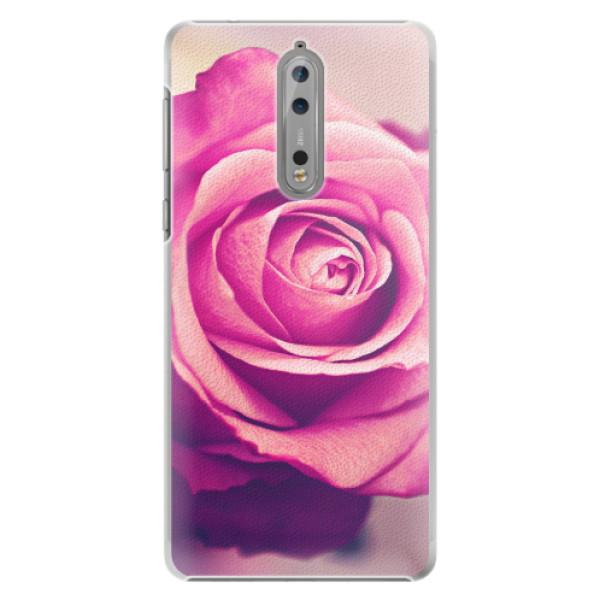 Plastové pouzdro iSaprio - Pink Rose - Nokia 8