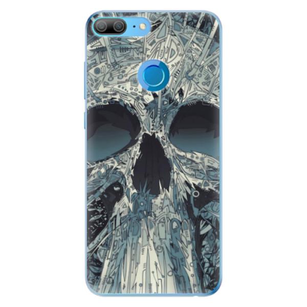 Odolné silikonové pouzdro iSaprio - Abstract Skull - Huawei Honor 9 Lite