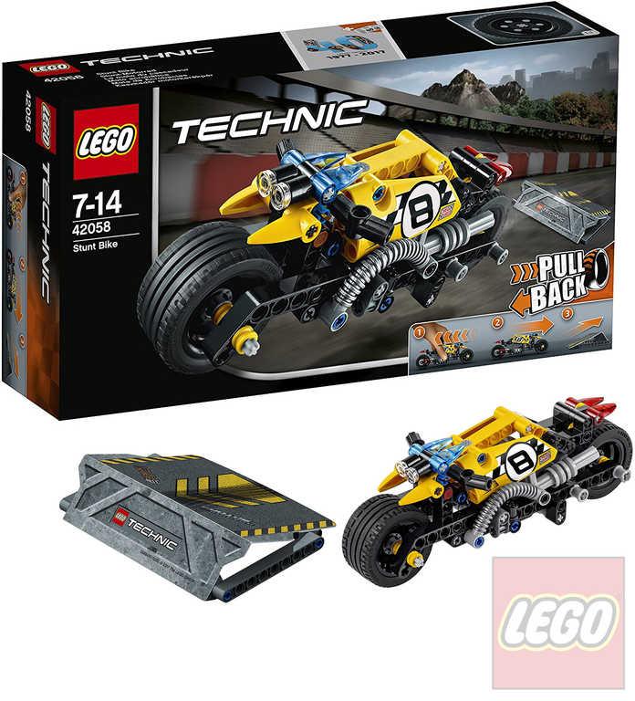 LEGO TECHNIC Motorka pro kaskadéry 42058 STAVEBNICE