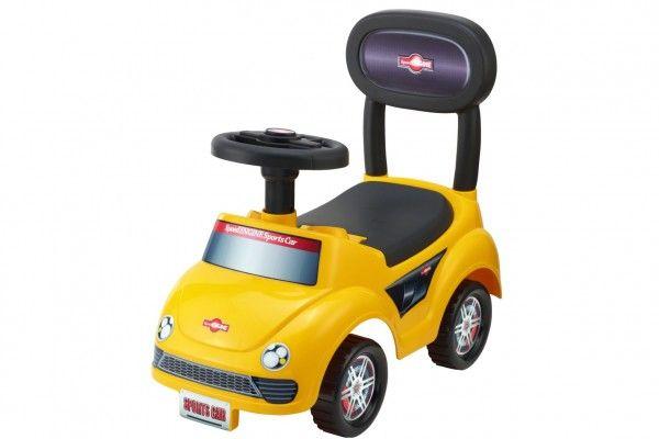 Dětské odrážedlo auto - žluté, 20 cm