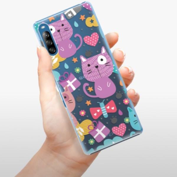 Plastové pouzdro iSaprio - Cat pattern 01 - Sony Xperia L4
