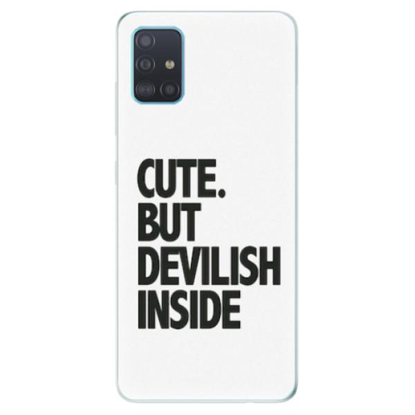 Odolné silikonové pouzdro iSaprio - Devilish inside - Samsung Galaxy A51