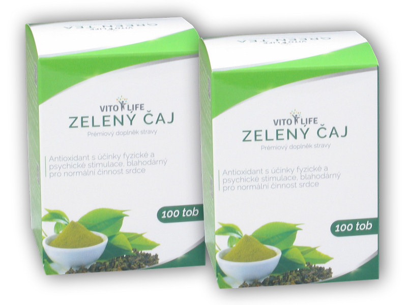 2x Zelený čaj 100 kapslí