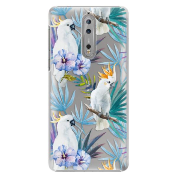 Plastové pouzdro iSaprio - Parrot Pattern 01 - Nokia 8