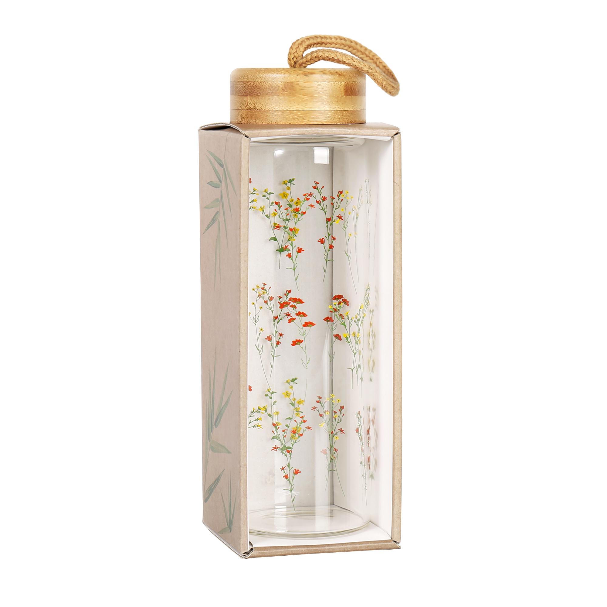 Skleněná láhev - Květiny