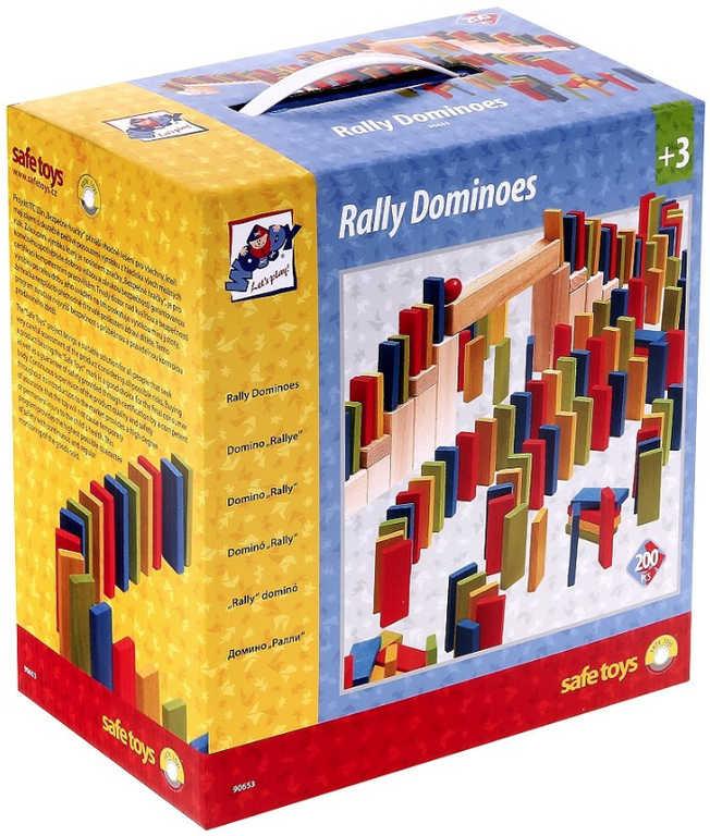 WOODY DŘEVO Hra domino barevné Rally set 200 dílků *DŘEVĚNÉ HRAČKY*