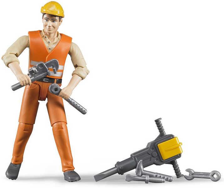 BRUDER 60020 Stavební dělník figurka