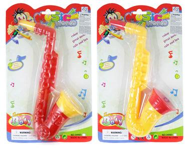 Dětský Saxofon Hudební nástroj 2 barvy PLAST 31 cm