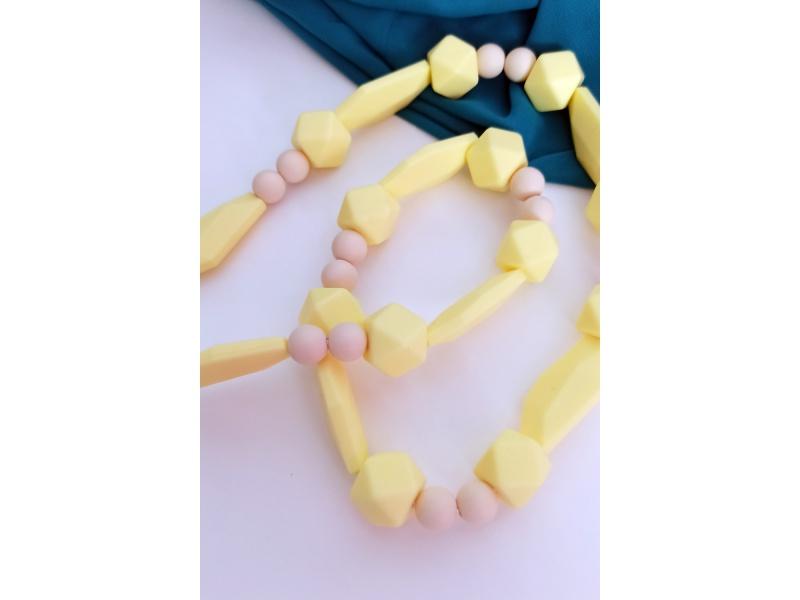 MIMIKOI - Kojící korále hravé tvary žluté