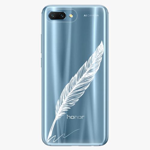 Silikonové pouzdro iSaprio - Writing By Feather - white - Huawei Honor 10
