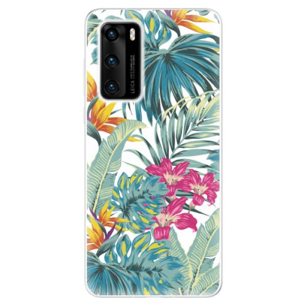 Odolné silikonové pouzdro iSaprio - Tropical White 03 - Huawei P40