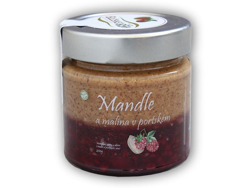 Mandlový krém + džem maliny v portském 200g