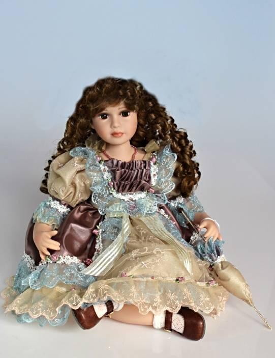 Vinylová panenka sedící Luisa - 55 cm - IntArt + dárek k nákupu