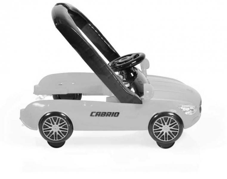 Cangaroo Dětské chodítko 2v1 Cabrio - bílé