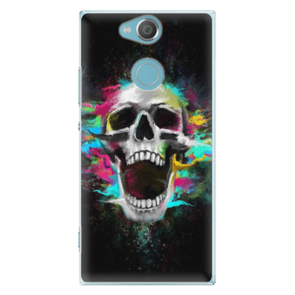 Plastové pouzdro iSaprio - Skull in Colors - Sony Xperia XA2
