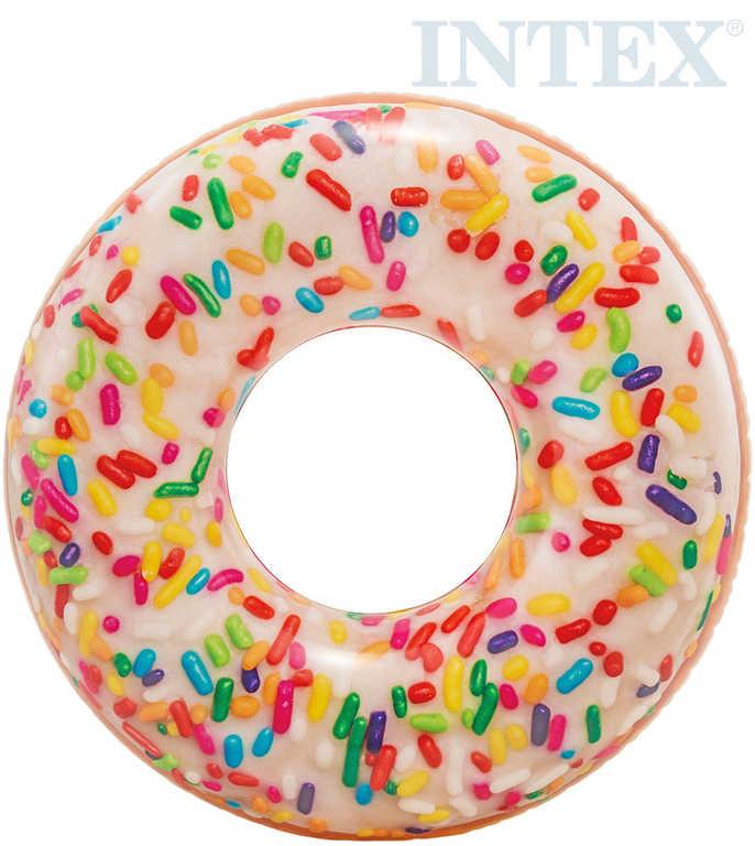 INTEX Kruh plavací donut barevný 114cm nafukovací dětské kolo do vody 56263