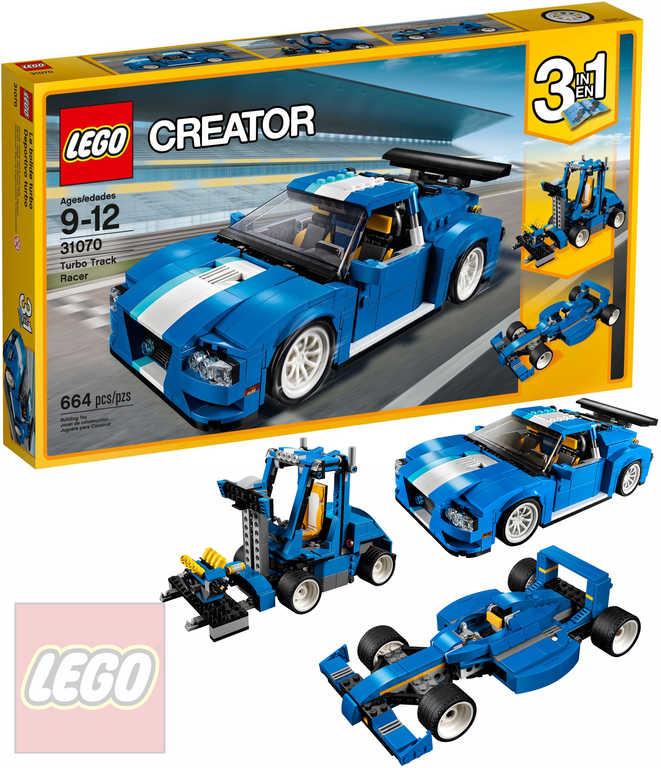 LEGO CREATOR Turbo závodní auto modré 3v1 31070 STAVEBNICE