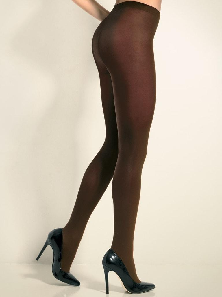 Hladké punčochové kalhoty CHANGE Tights 70 DEN hnědé - S
