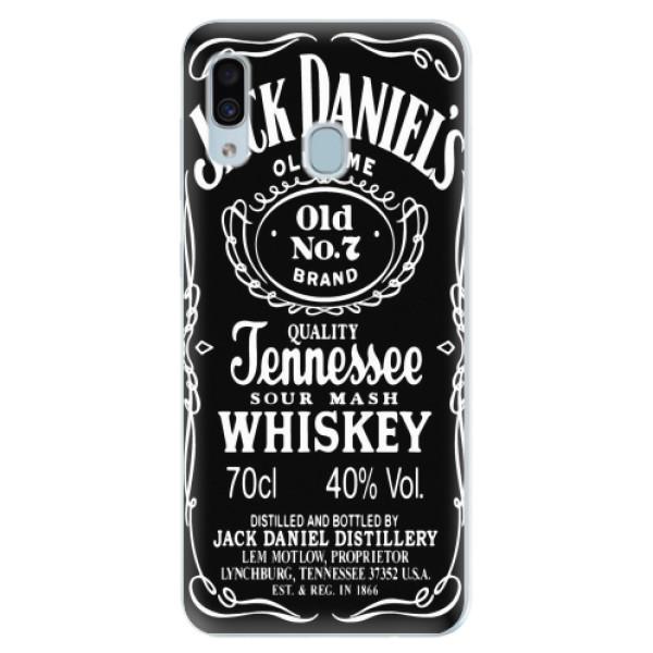Silikonové pouzdro iSaprio - Jack Daniels - Samsung Galaxy A30