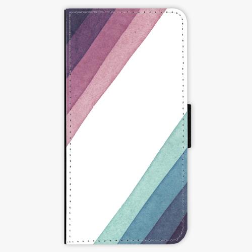 Flipové pouzdro iSaprio - Glitter Stripes 01 - iPhone 8 Plus