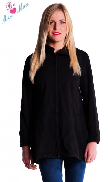 Těhotenská softshellová bunda,kabátek - černá