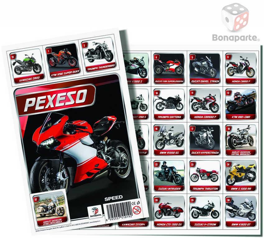 BONAPARTE Pexeso Moto Speed Motorky fotografie *SPOLEČENSKÉ HRY*