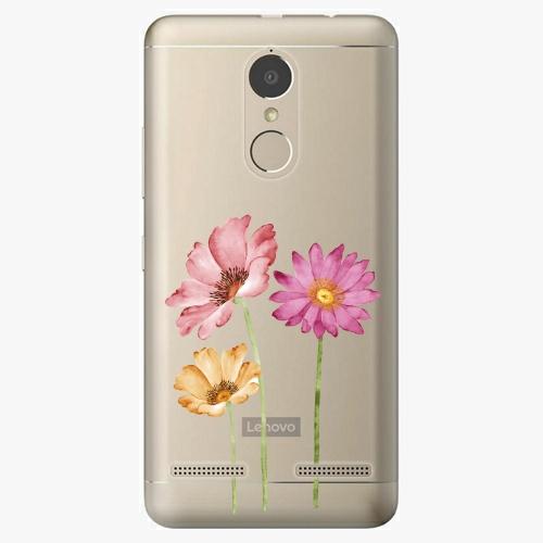 Plastový kryt iSaprio - Three Flowers - Lenovo K6