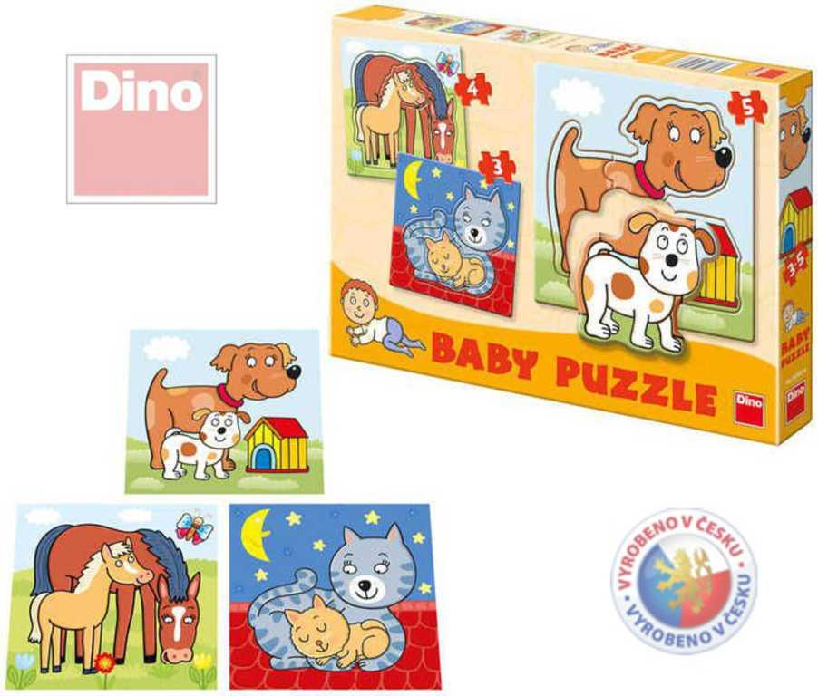 DINO Puzzle BABY Zvířátka 12 dílků