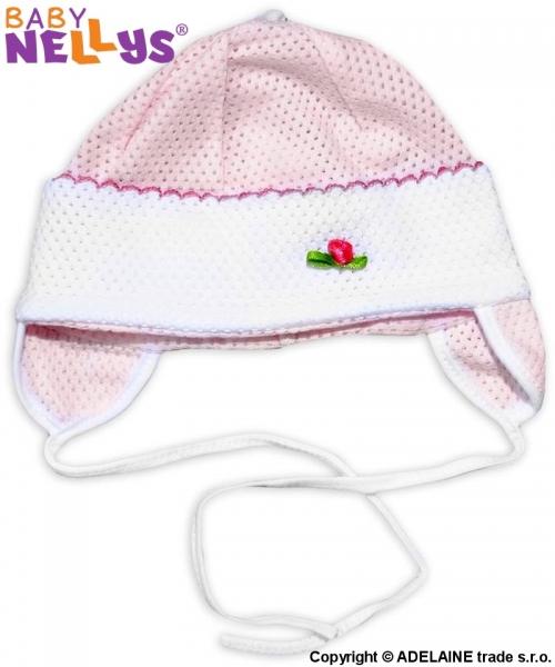 Čepička letní Baby Nellys® - růžová - 74 (6-9m)/80 (9-12m)/86 (12-18m)